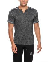 Hotouch Men's Round-Neck Soft Elasticity Cotton Short Sleeve T-Shirtst