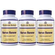 Nerve Renew Neuropathy Pain Relief for Feet & Hands-Sciatic Nerve Pain Relief All-Natural Dietary Supplement with Alpha Lipoic Acid-Nerve Renew Neuropathy Support Formula 90 Day Supply. (3)