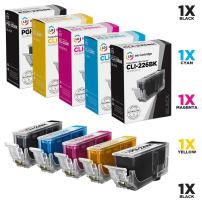 LD Compatible Ink Cartridge Replacements for Canon PGI-225 & CLI-226 (1 Pigment Black, 1 Dye Black, 1 Cyan, 1 Magenta, 1 Yellow, 5-Pack)