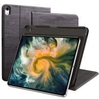 DANTENG iPad Pro 11 Inch Case iPad 2018/2017 Business Slim Folding Stand Folio Cover, Lightweight Smart Cover with Auto Sleep/Wake for iPad 11 iPad 5th / 6th Generation- Black