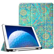 "Fintie Case for iPad Air (3rd Gen) 10.5"" 2019 / iPad Pro 10.5"" 2017 - [SlimShell] Ultra Lightweight Standing Protective Cover with Built-in Pencil Holder, Auto Wake/Sleep (Shades of Blue)"