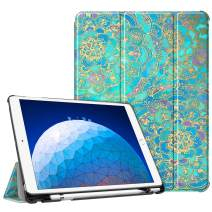 """Fintie Case for iPad Air (3rd Gen) 10.5"""" 2019 / iPad Pro 10.5"""" 2017 - [SlimShell] Ultra Lightweight Standing Protective Cover with Built-in Pencil Holder, Auto Wake/Sleep (Shades of Blue)"""