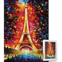 Ingooood- Painting Series- Eiffel Tower Paris Jigsaw Puzzles in a Puzzle 1000 Pieces for Adult