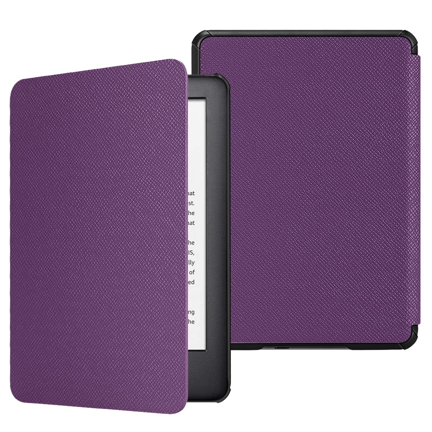 Fintie Slimshell Case for All-New Kindle (10th Generation, 2019 Release) - Lightweight Premium PU Leather Protective Cover with Auto Sleep/Wake (NOT Fit Kindle Paperwhite or Kindle 8th Gen), Violet