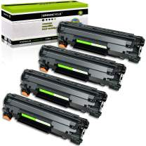 GREENCYCLE 4 Pack Compatible Toner Cartridge Replacement for Canon 126 CRG-126 CRG126 3483B001 Black for use in ImageClass LBP6200d, and LBP6230dw Wireless Laser Printers