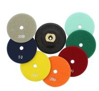 ABN 4-Inch Wet/Dry Diamond Polishing Pads, 8 Piece Set with Buffer, Rubber Backer for Granite, Stone, Marble, Travertine