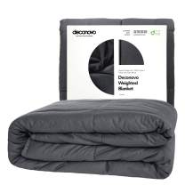 Deconovo Weighted Blanket – 100% Cotton Heavy Blanket Filled with Glass Beads (60 x 80 inch | 17 lbs)