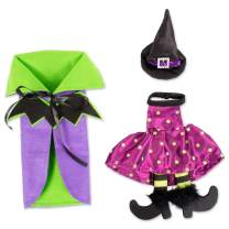 DII FBA43911 Bottle Covers for Halloween Décor, Wine Lover, or Party, 10x6x1, Purple Bat