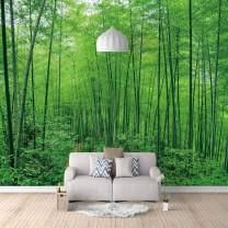"Liveinu Deep Forest Waterfall Mural,Wall Sticker,Removable Wall Mural,Home Decor,Bamboo Forest,118"" x 82"""