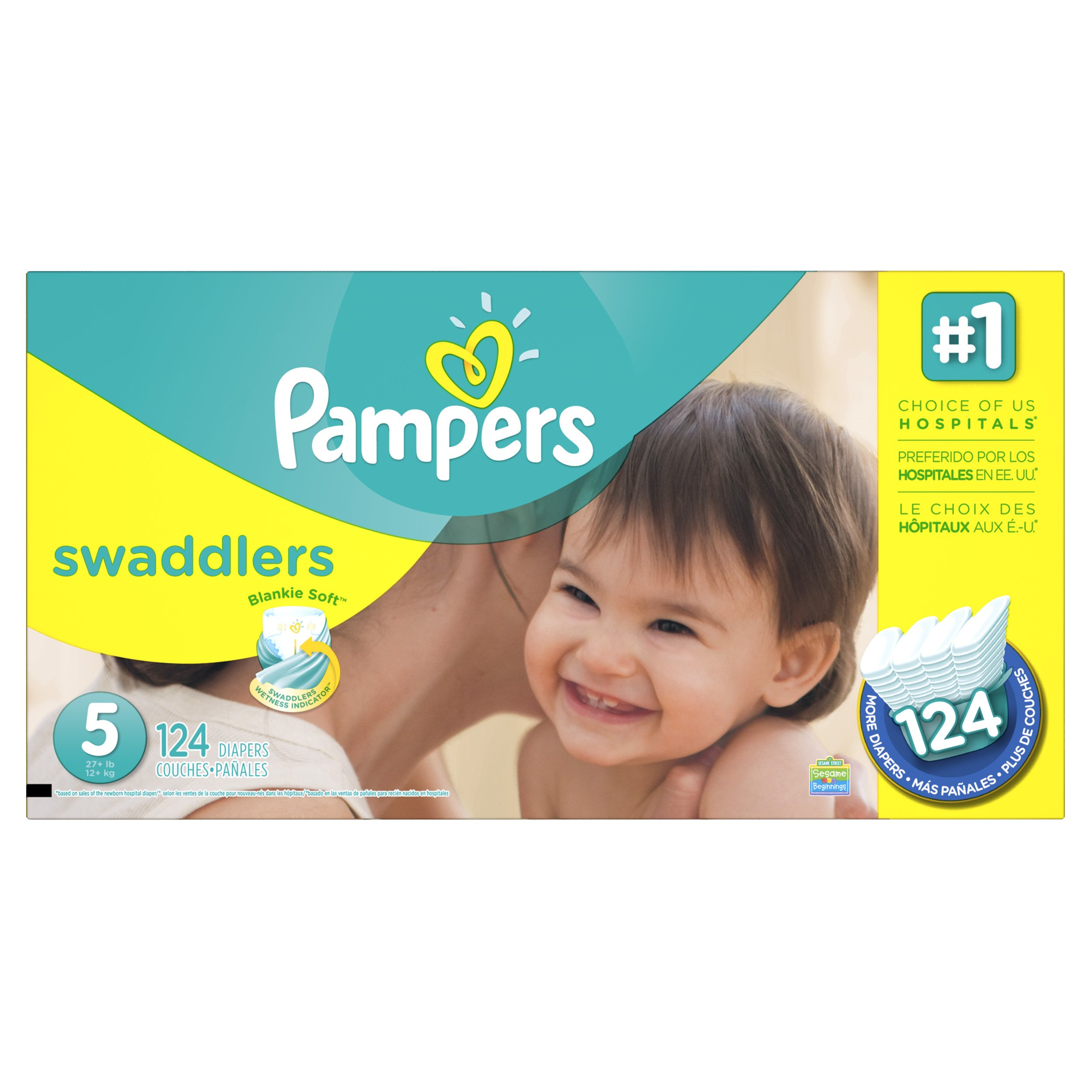 Pampers Swadlers Size 5