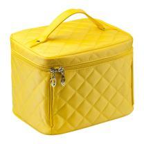EN'DA Big Travel Cosmetic Case Large toiletries bag with quality zipper durable handy Makeup bags (Yellow)