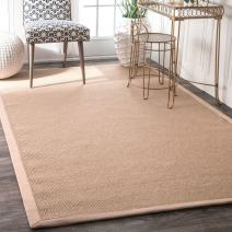 "nuLOOM Laurel Machine Woven Jute Runner Rug, 2' 6"" x 8', Beige"