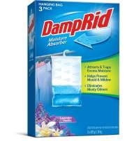DampRid FG83LV Hanging Moisture Absorber Lavender Vanilla, 3-Pack, 1 Pack, Blue, 3 Count