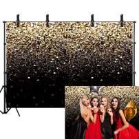 Sensfun 7x5ft Black Gold Bokeh Glitter Backdrop for Birthday Party Graduation Prom Dance Shining Bokeh Decor YouTube Video Background Backdrops Studio Props
