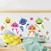 RoomMates - RMK4303SCS Baby Shark Peel And Stick Wall Decals   Kids Room Decor