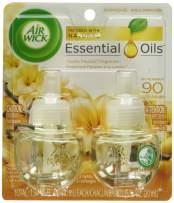 Air Wick plug in Scented Oil 2 Refills, Cold Stone Creamery Vanilla Bean , (2x0.67oz), Essential Oils, Air Freshener