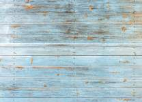 AIIKES 8x6FT Wood Backdrops for Photography Blue Wood Floor Backdrop Vinyl Baby Newborn Birthday Photo Background Wood Backdrops Photo Booth Studio Props 11-427