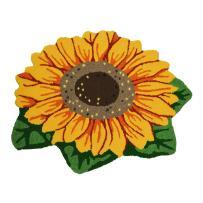 Ustide Sunflower Imprint Anti-Slip Mat Cute Doormat Non-Slip Bath Mat Colorful Handmade Floor Mats