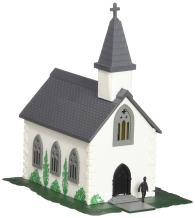Bachmann Trains - PLASTICVILLE U.S.A. BUILT-UP BUILDING - COUNTRY CHURCH - N Scale