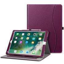 Fintie Case for iPad Pro 12.9 2nd Gen 2017 / iPad Pro 12.9 1st Gen 2015 - [Corner Protection] Multi-Angle Folio Stand Cover w/Pocket, Auto Wake/Sleep for Apple iPad Pro 12.9 Inch Table, Purple