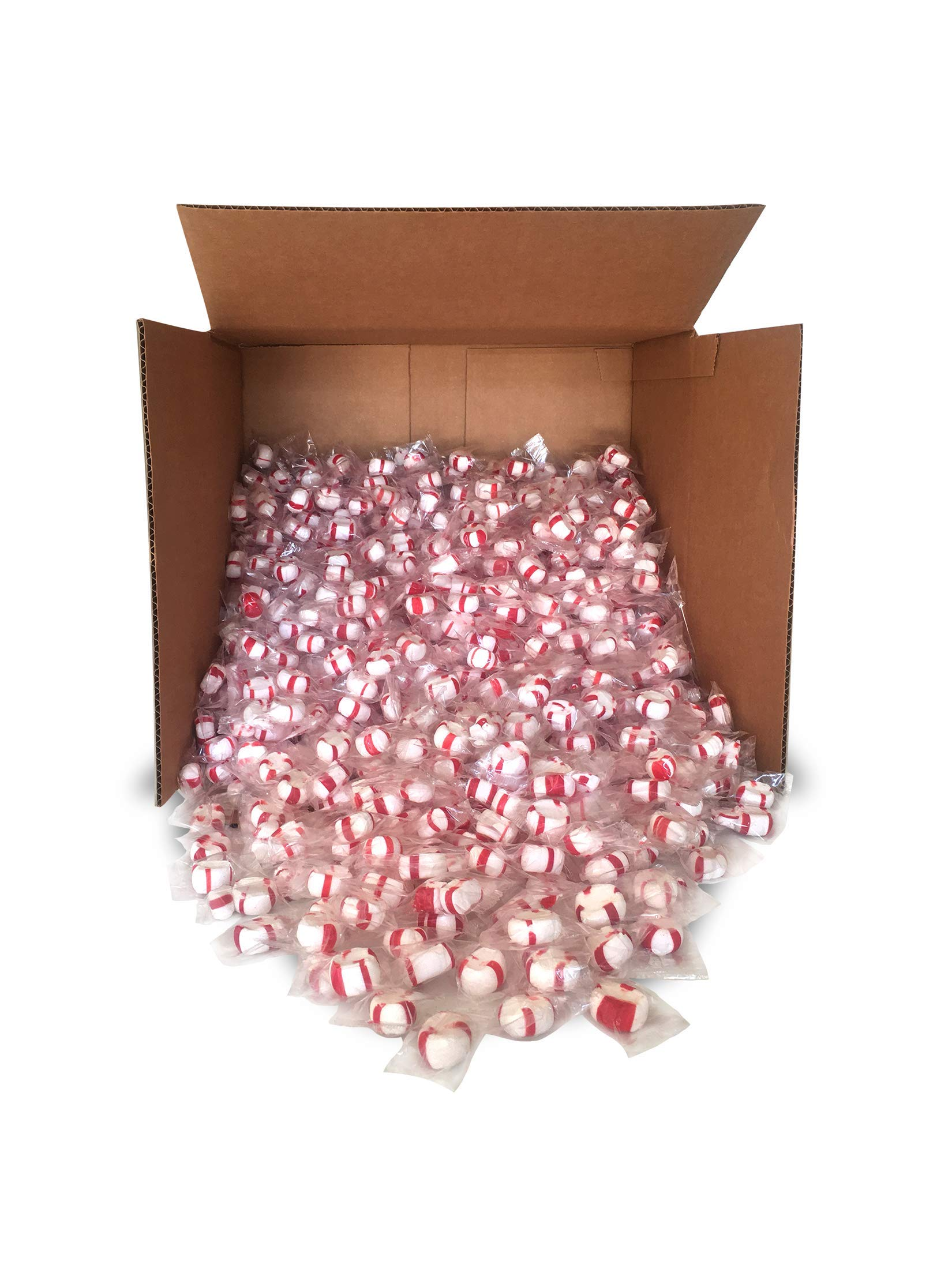 Red Bird Soft Peppermint Puff Candy 20 lb Bulk, individually wrapped, made with 100% cane sugar and natural peppermint oil