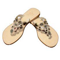 Gorgeous Jeweled Genuine Leather Shoes Pasha, Style Seram