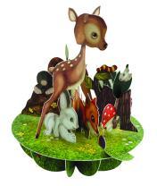 Santoro Pirouettes Baby Animals 3 D Pop Up Card