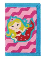 RFID Blocking Wallet for Kids/Slim Cartoon Wallet with Zippered Pocket/Trifold Canvas Outdoor Sports Wallet (Mermaid)
