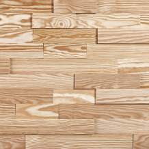 Timberwall - Brick Collection Greenwich - DIY Wood Wall Panel - Solid Wood Planks - Easy Peel and Stick Application - 9.8 Sq Ft