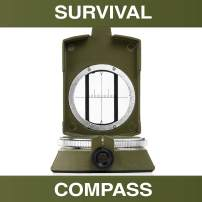 Swiss Safe Multifunction Military Survival Compass - Premium Navigational Compass for Camping, Hiking, Outdoors & Emergency Survival Situations