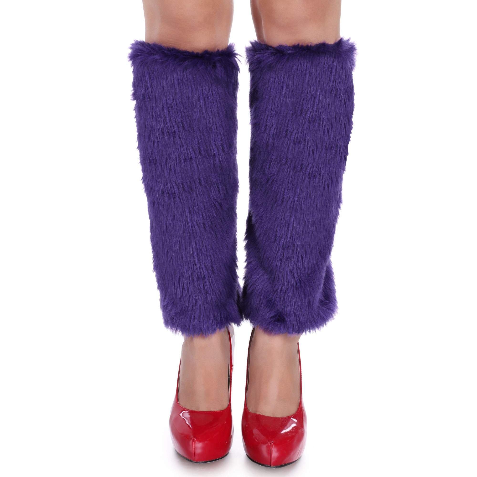Zeagoo Women Fashion Furry Leg Warmers Fur Cover for Winter Keep Warm