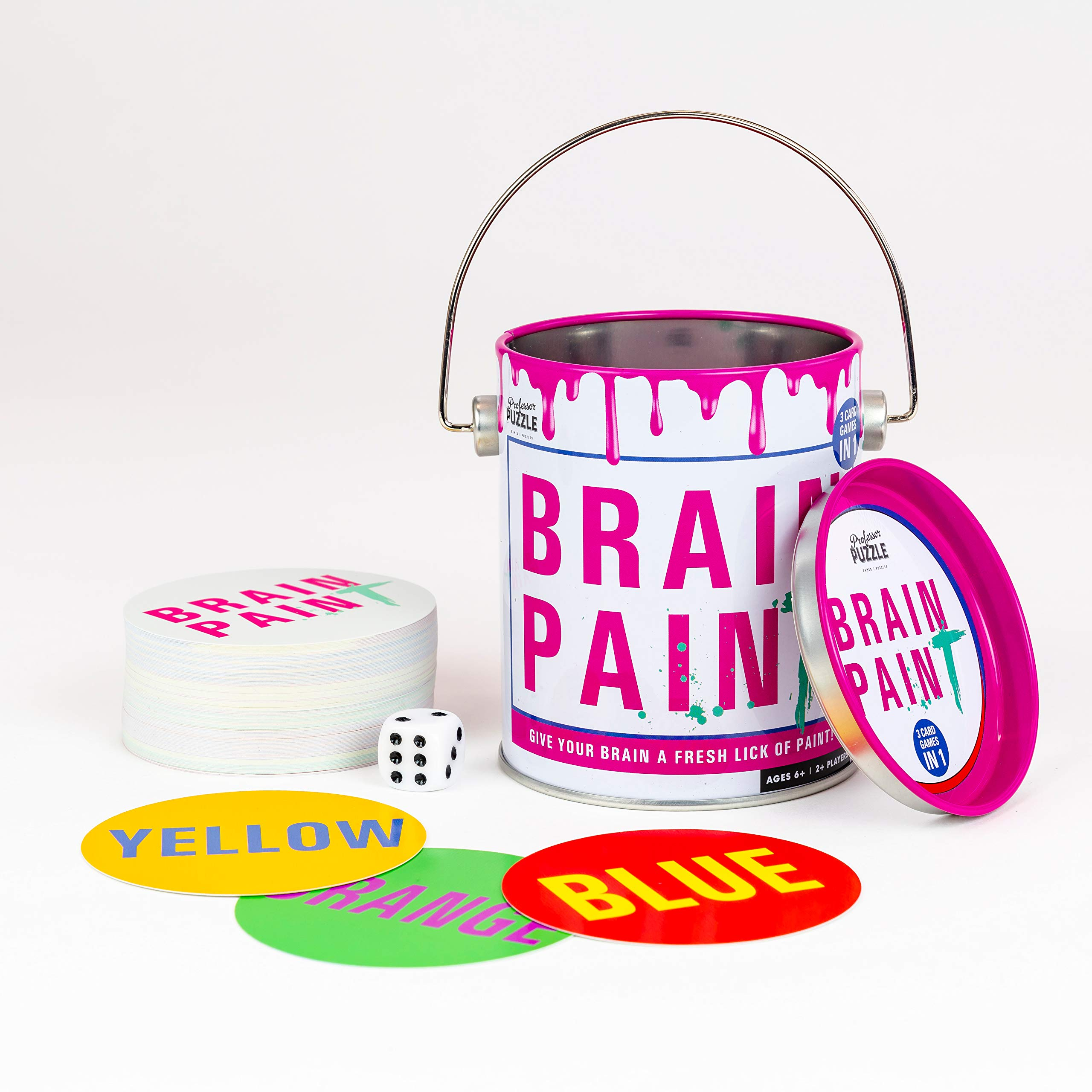 Brain Training Brain Paint - 3 Engaging & Brain stimulating Card Games by Professor Puzzle.