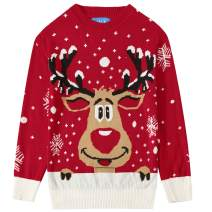 SSLR Big Boys' Funny Crewneck Pullover Ugly Christmas Sweater