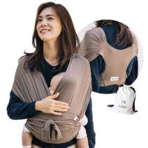 Konny Baby Carrier | Ultra-Lightweight, Hassle-Free Baby Wrap Sling | Newborns, Infants to 44 lbs Toddlers | Soft and Breathable Fabric | Sensible Sleep Solution (Mocha, M)