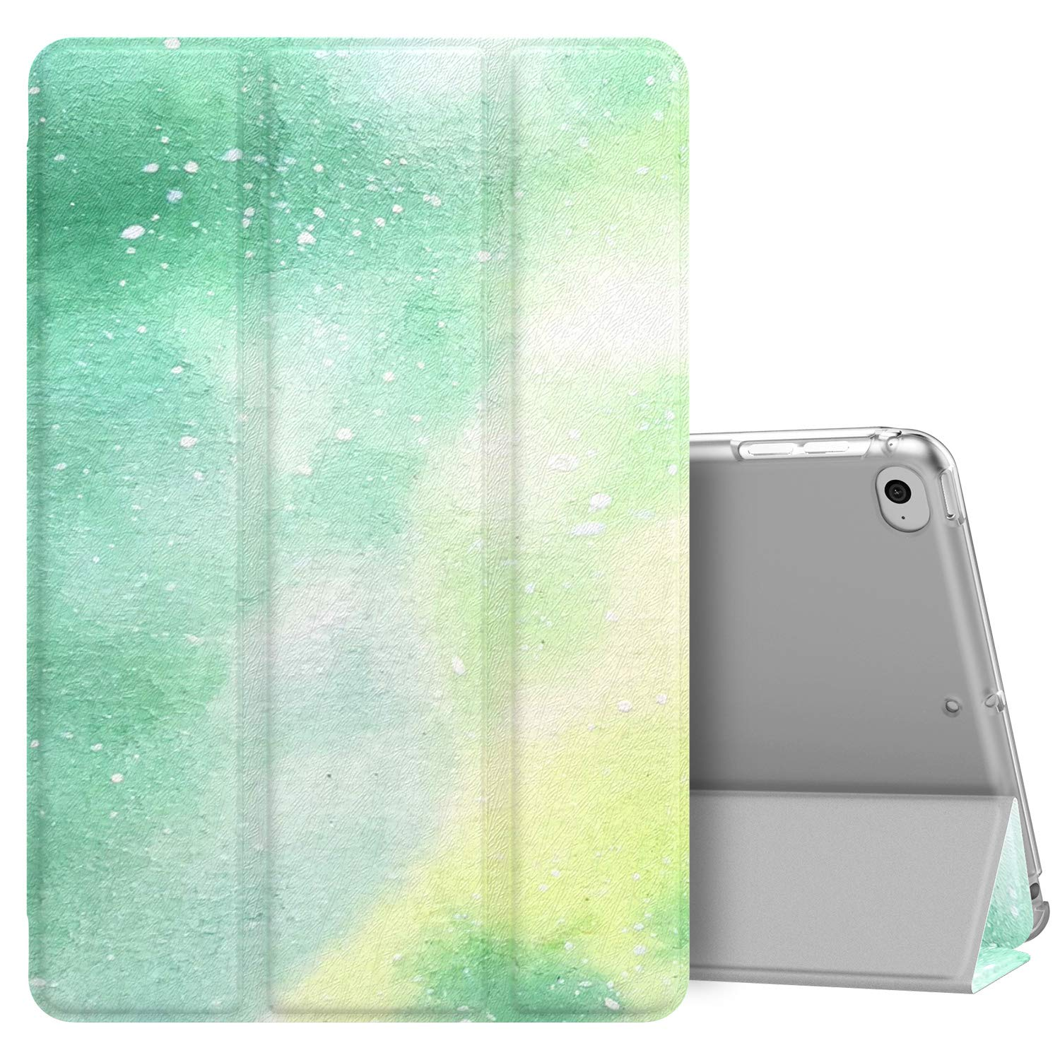 MoKo Case Fit New iPad Mini 5 2019 (5th Generation 7.9 inch), Slim Lightweight Smart Shell Stand Cover with Translucent Frosted Back Protector, with Auto Wake/Sleep - Dream Green