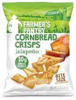 Farmer's Pantry Bulk Pack Cornbread Crisps, Jalapeno, 2 Ounce (Pack of 24)