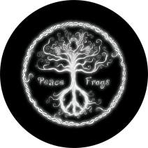 TIRE COVER CENTRAL Peace Frog Wild Tree with Peace Roots Design Spare Tire Cover (Select tire Size/Back up Camera Option in MENU) sizezd to Any Make/Model for 255/75R17