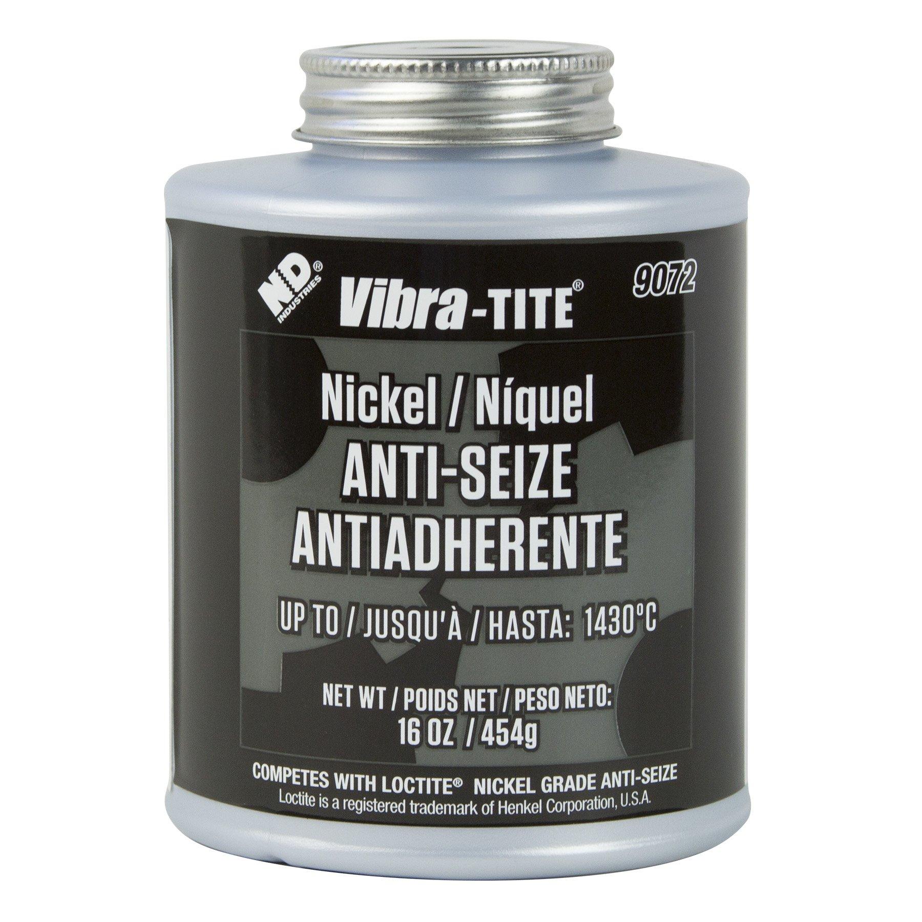Vibra-TITE 90726 Nickel Anti-Seize Lubricant Compound, 16 oz Jar with Brush