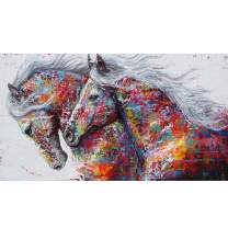 ANMUXI 5D Diamond Painting Kits Full Square Drills 80X45CM Horses Animals Paint with Diamonds Art for Stress-Relief & Home Decor
