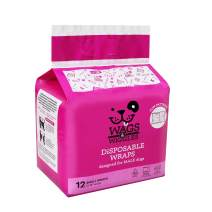 Wags & Wiggles Female Dog Diapers and Male Dog Wraps | Disposable Female Dog Diapers and Disposable Male Dog Wraps | Super Absorbent Dog Diapers Available in a Variety of Sizes