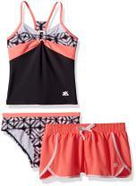 ZeroXposur Girls' Big Two Piece Tankini Swimsuit Set
