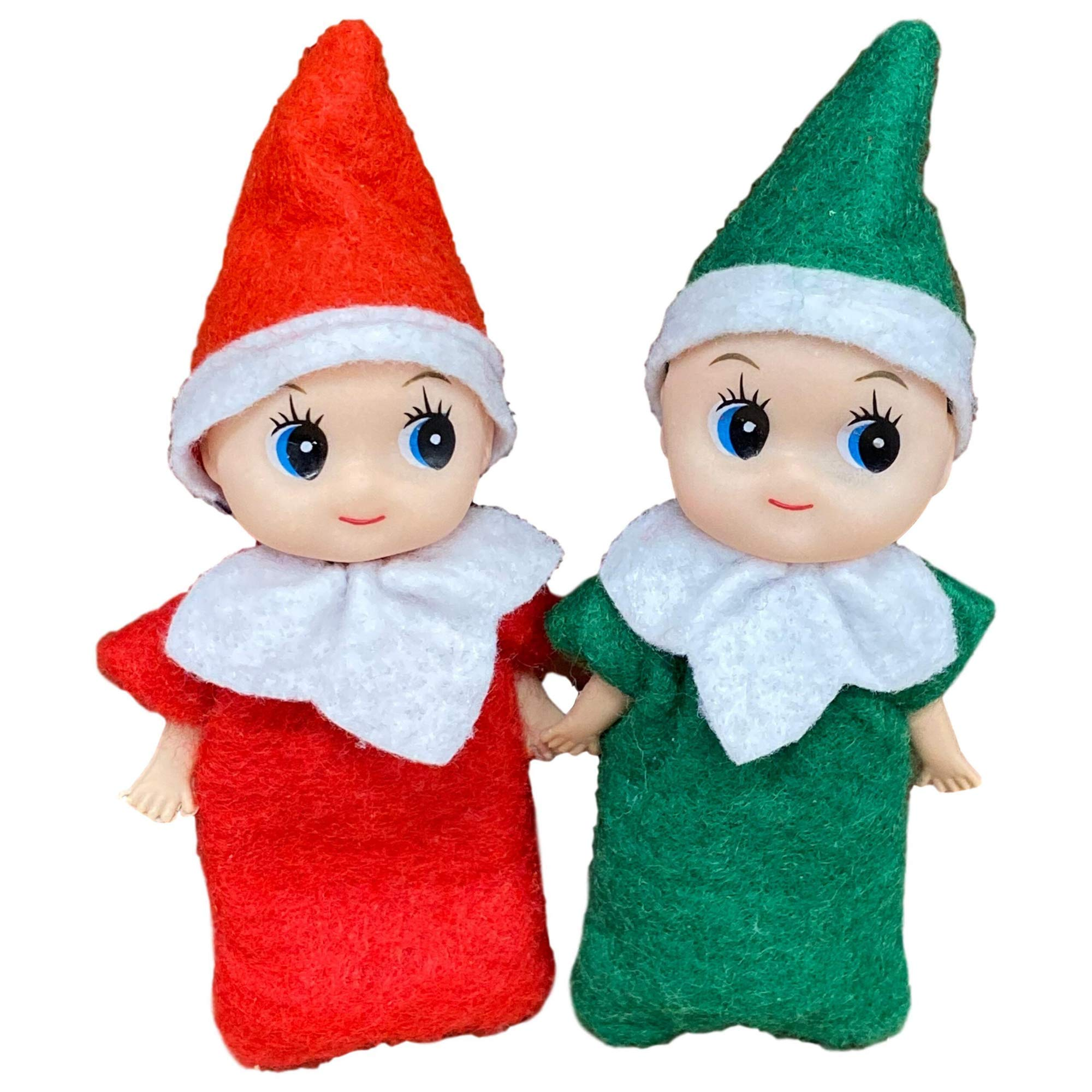 Picki Nicki Elf Baby Twins- Two Little Christmas Elves, an Elf Baby Boy and Elf Baby Girl are Perfect Accessories and Props for Elf Fun, Advent Calendars and Stocking Stuffers