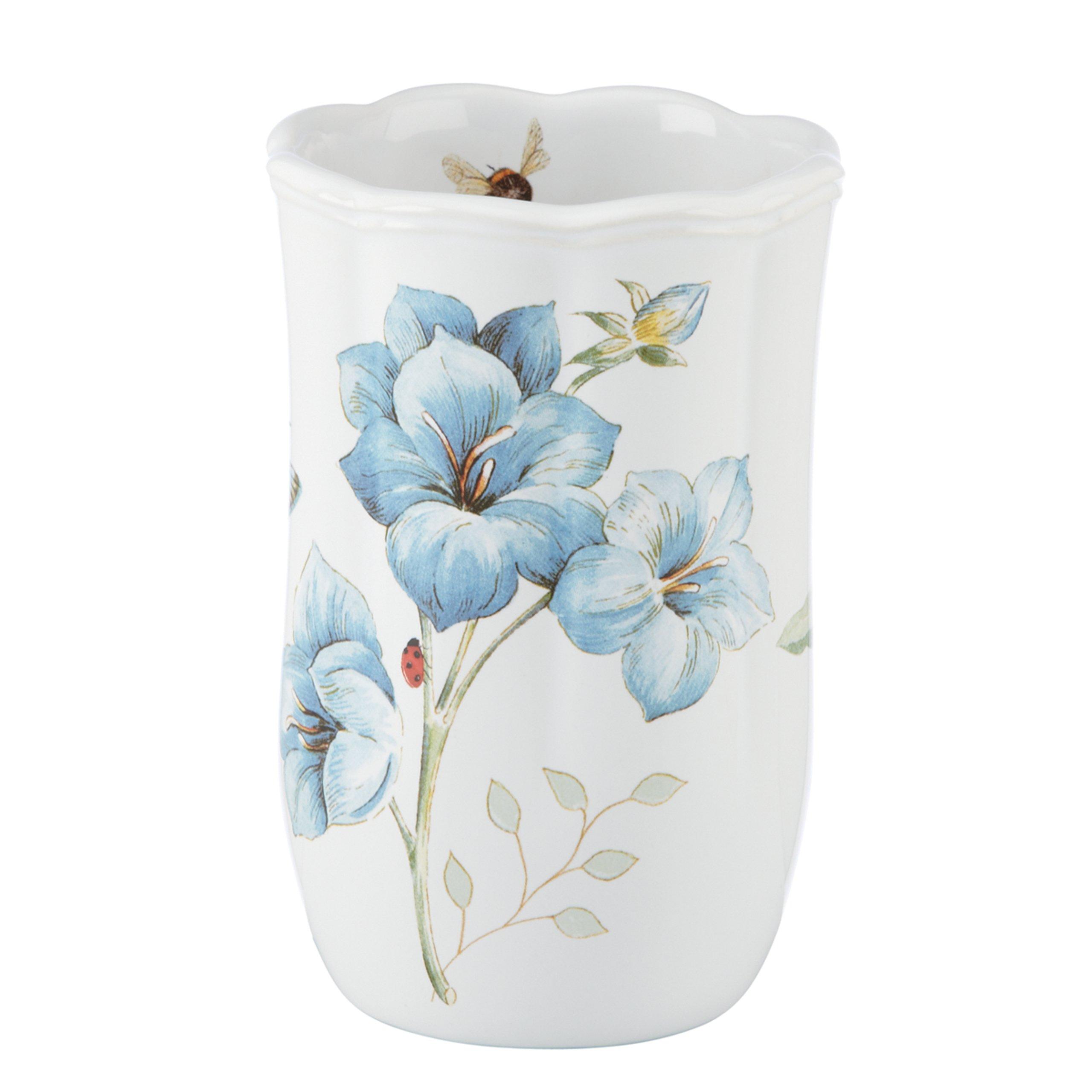 Lenox Butterfly Meadow Floral Garden Tumbler, Blue
