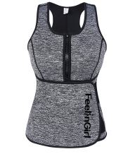 FeelinGirl Neoprene Sauna Suit Tank Top Vest with Adjustable Waist Trimmer Belt (See The Size Chart)