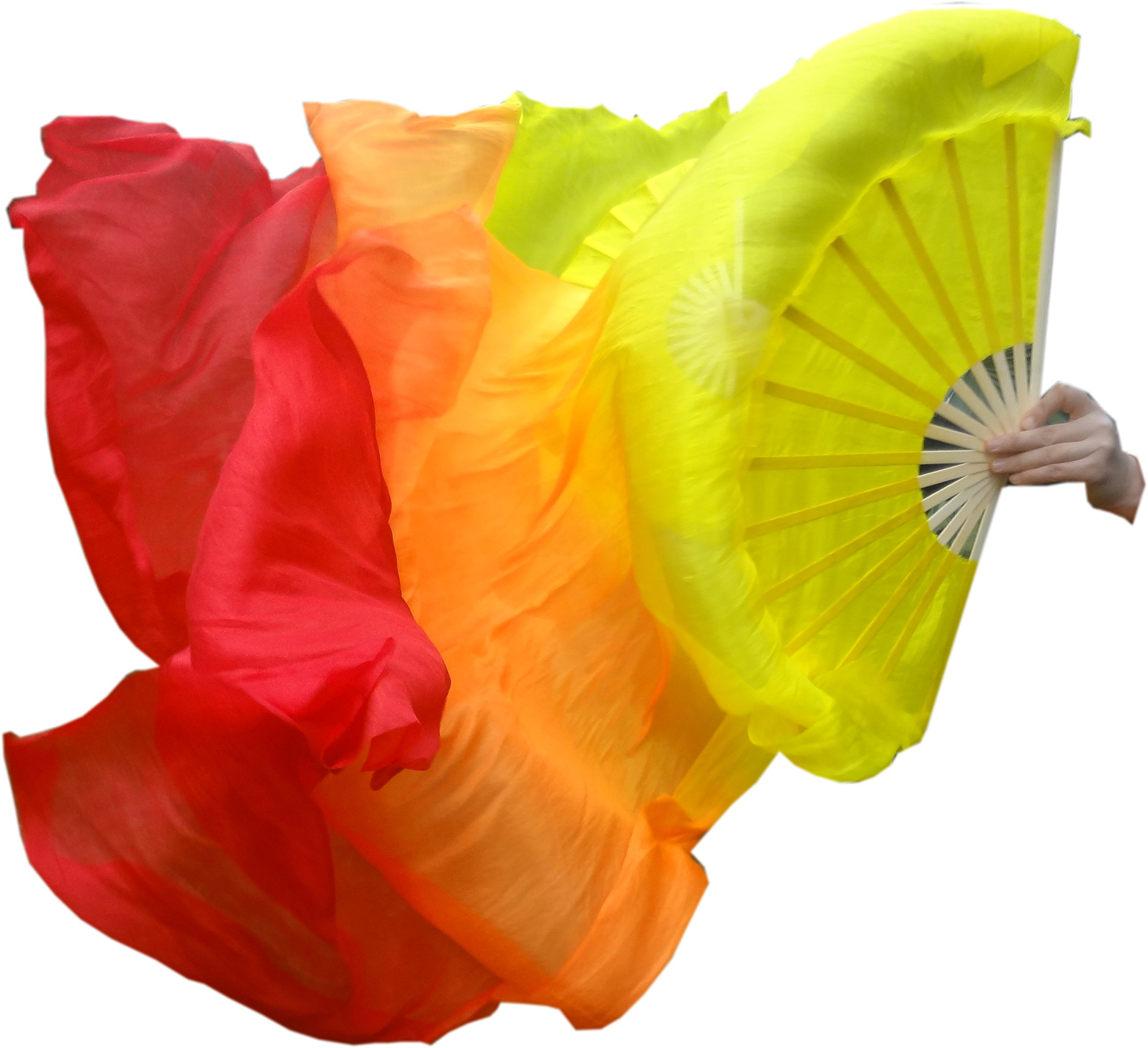Winged Sirenny 70 Colors Adult 1.8m Belly Dance Worship Praise Silk Fan Veil Flag Streamer