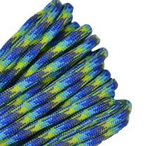 Bored Paracord - 1', 10', 25', 50', 100' Hanks & 250', 1000' Spools of Parachute 550 Cord Type III 7 Strand Paracord Well Over 300 Colors - Water World - 25 Feet
