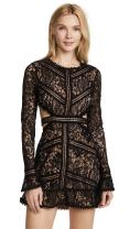 For Love & Lemons Women's Emerie Cutout Dress, Black, X-Small
