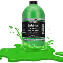 Pouring Masters Neon Green with Envy Acrylic Ready to Pour Pouring Paint – Premium 32-Ounce Pre-Mixed Water-Based - for Canvas, Wood, Paper, Crafts, Tile, Rocks and More