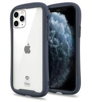 iFace Reflection Series iPhone 11 Pro Clear Case – Cute Dual Layer [TPU + 9H Tempered Glass] Hybrid Shockproof Protective Cover for Women [Drop Tested] [Wireless Charging Compatible] - Navy