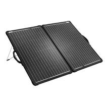 ACOPOWER 100W Mono Lightweight Portable Solar Panel Kit 2PCS 50W Solar Suitcase, Waterproof 20A 12V/24V LCD Charge Controller for Both 12V Battery and Generator (New Launched)